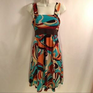 Psychedelic Retro Midi Dress
